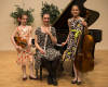 Katarina, Emilia, Simonida at their music school after a concert