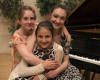 Katarina, Emilia, Simonida at their music school